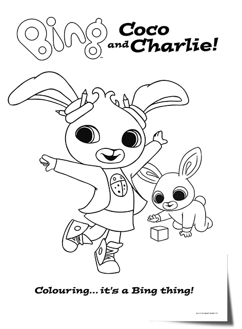 Bing Bunny Character colouring