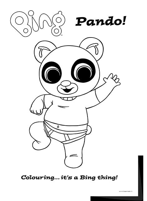 Bing Bunny - Character colouring sheets | Battleplan Creative