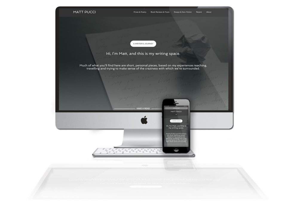 Matt Pucci website design by Battleplan